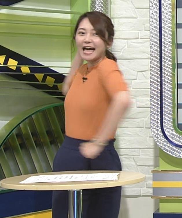 竹崎由佳アナ 体にぴったりニットキャプ・エロ画像5