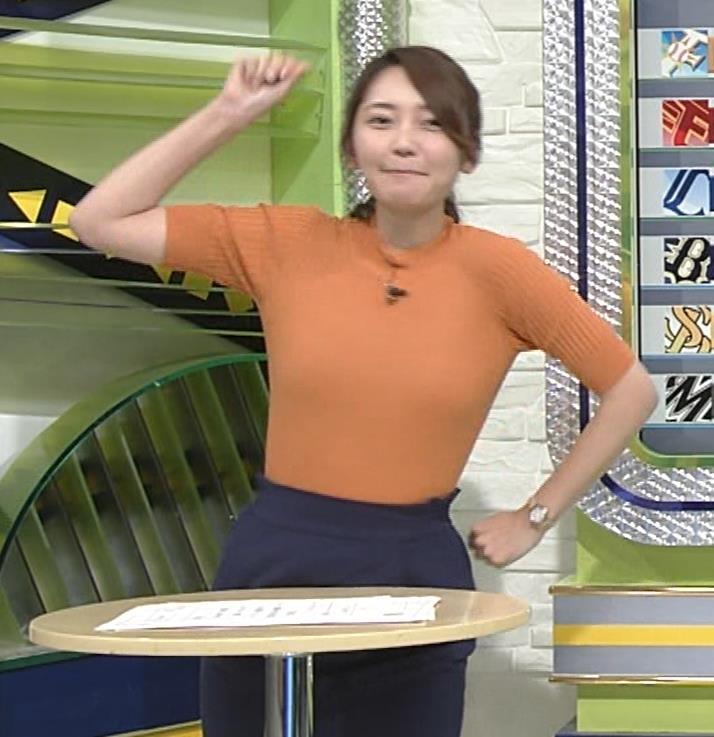 竹崎由佳アナ 体にぴったりニットキャプ・エロ画像6