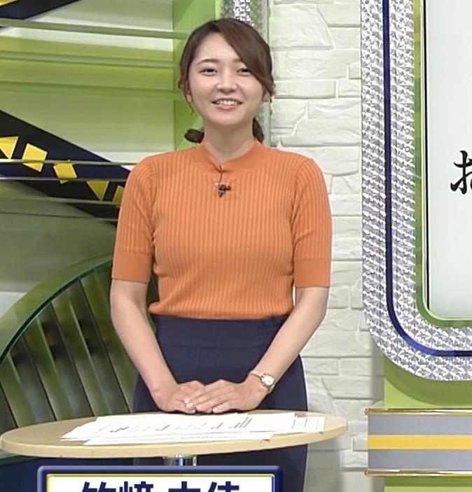 竹崎由佳アナ 体にぴったりニットキャプ・エロ画像9