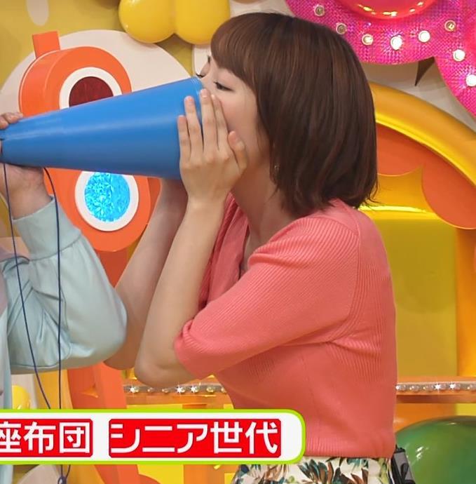 滝菜月アナ ニット巨乳キャプ・エロ画像5