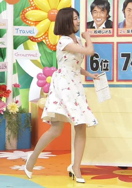 滝菜月アナ またまた大胆に胸チラ!!キャプ・エロ画像12
