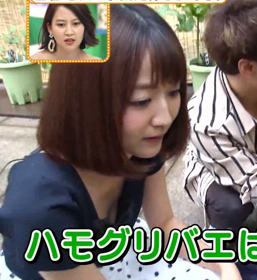 滝菜月アナ またまた大胆に胸チラ!!キャプ・エロ画像3