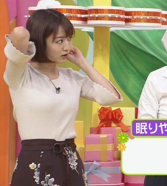 滝菜月アナ セクシーなうなじ&ニット乳キャプ・エロ画像4