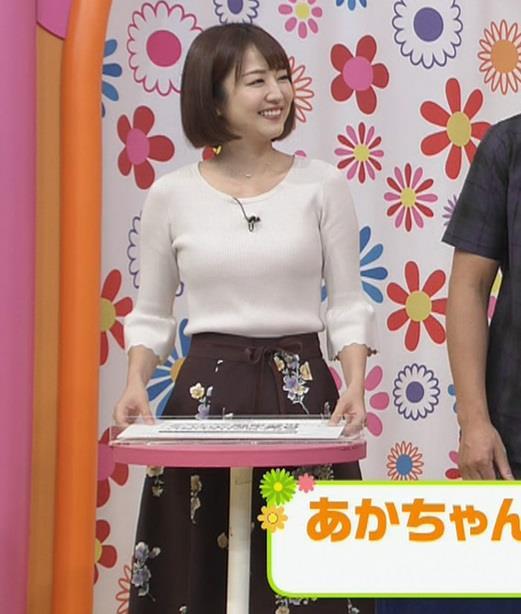 滝菜月アナ セクシーなうなじ&ニット乳キャプ・エロ画像10