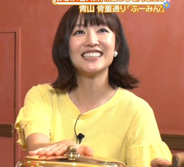 滝菜月アナ 胸の大きさがなんとなくわかる服キャプ・エロ画像4