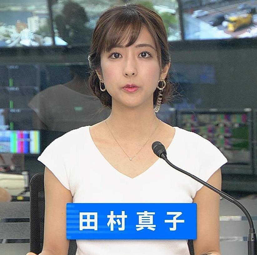 田村真子アナ 涼しげでエロい服キャプ・エロ画像2