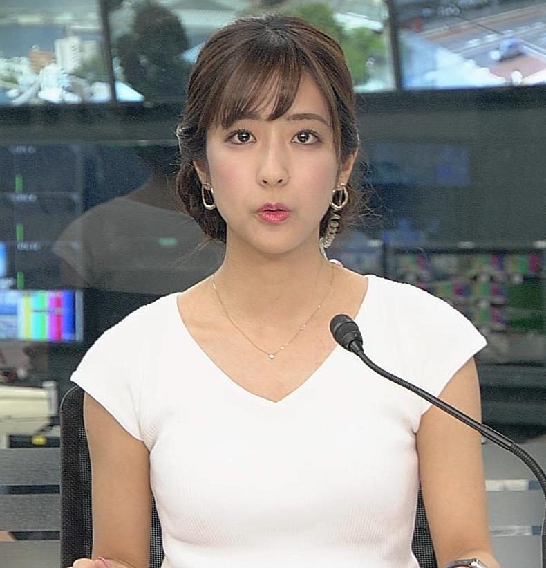 田村真子アナ 涼しげでエロい服キャプ・エロ画像3
