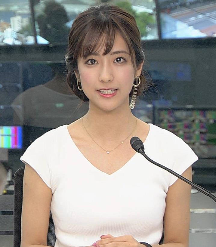 田村真子アナ 涼しげでエロい服キャプ・エロ画像4