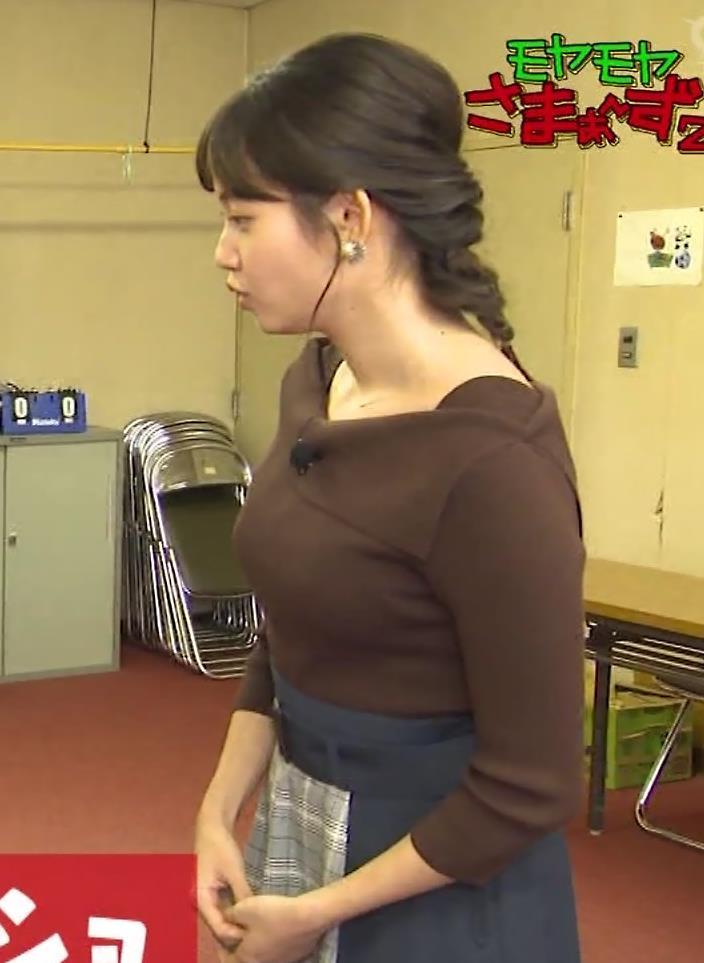 田中瞳アナ モヤさまのエロい横乳キャプ・エロ画像10