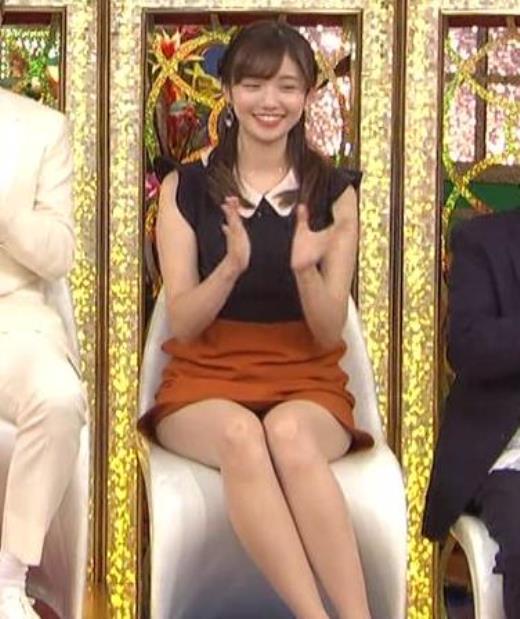 田中瞳 パンツ見えそうなミニスカキャプ画像(エロ・アイコラ画像)
