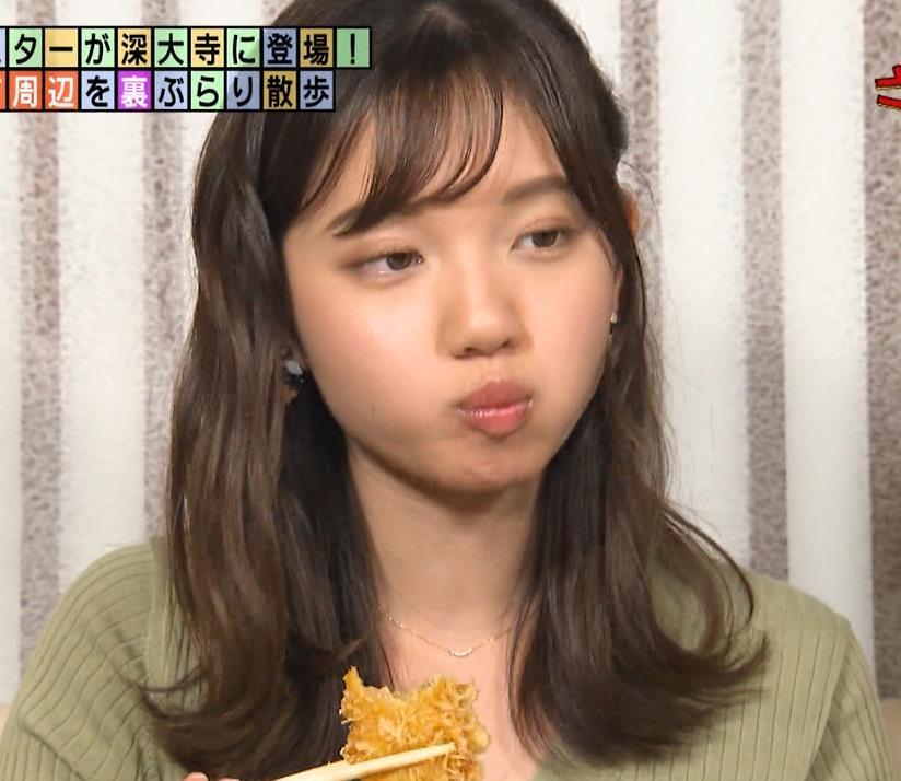 田中瞳アナ デカそうなニットおっぱいキャプ・エロ画像