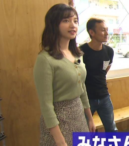 田中瞳アナ デカそうなニットおっぱいキャプ画像(エロ・アイコラ画像)