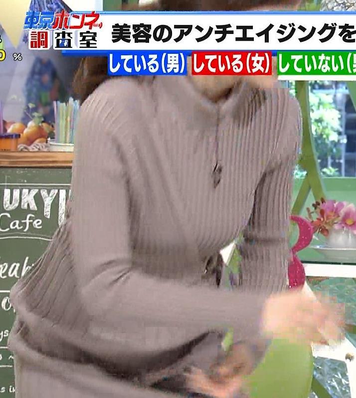 田中みな実アナ 体のラインがちょっと出ててエロいキャプ・エロ画像6