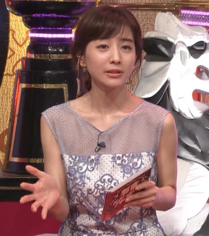 田中みな実アナ 透けたノースリーブキャプ・エロ画像3
