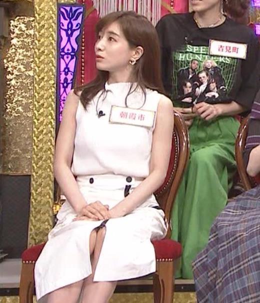 田中みな実 スカートのスリットのエロさ…キャプ画像(エロ・アイコラ画像)