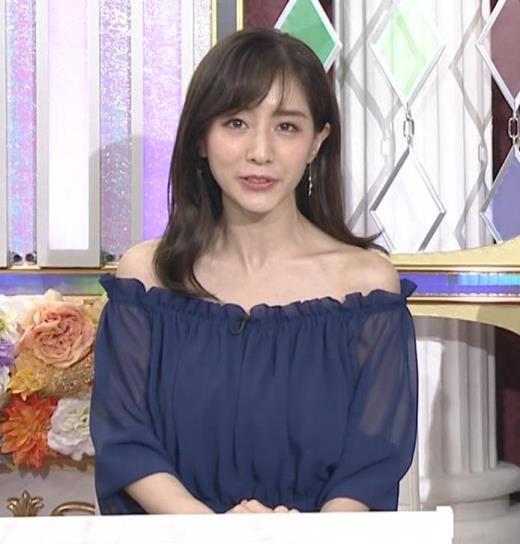 田中みな実 両肩出した透け衣装キャプ画像(エロ・アイコラ画像)