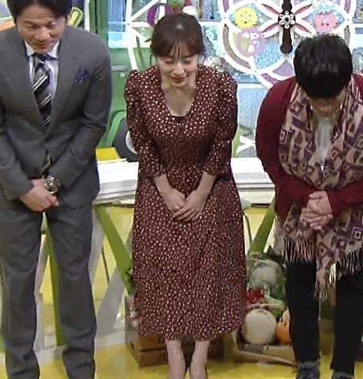 田中みな実 胸元開いた衣装でお辞儀キャプ画像(エロ・アイコラ画像)