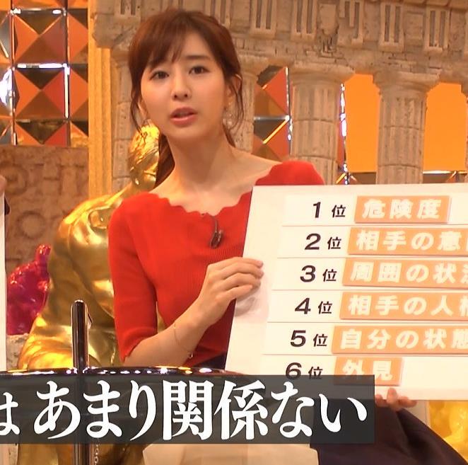田中みな実アナ ニット横乳♡キャプ・エロ画像7
