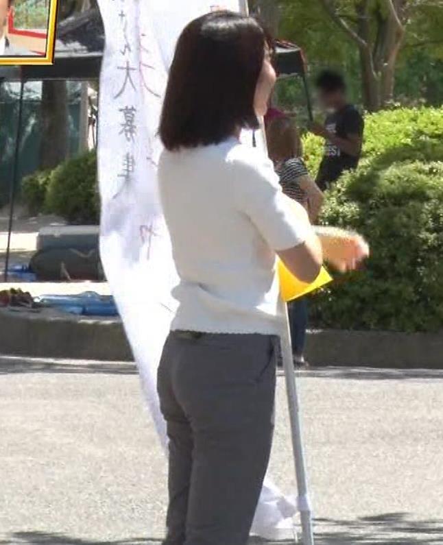 田中萌アナ プリケツ!ぴったりパンツのお尻!!キャプ・エロ画像5