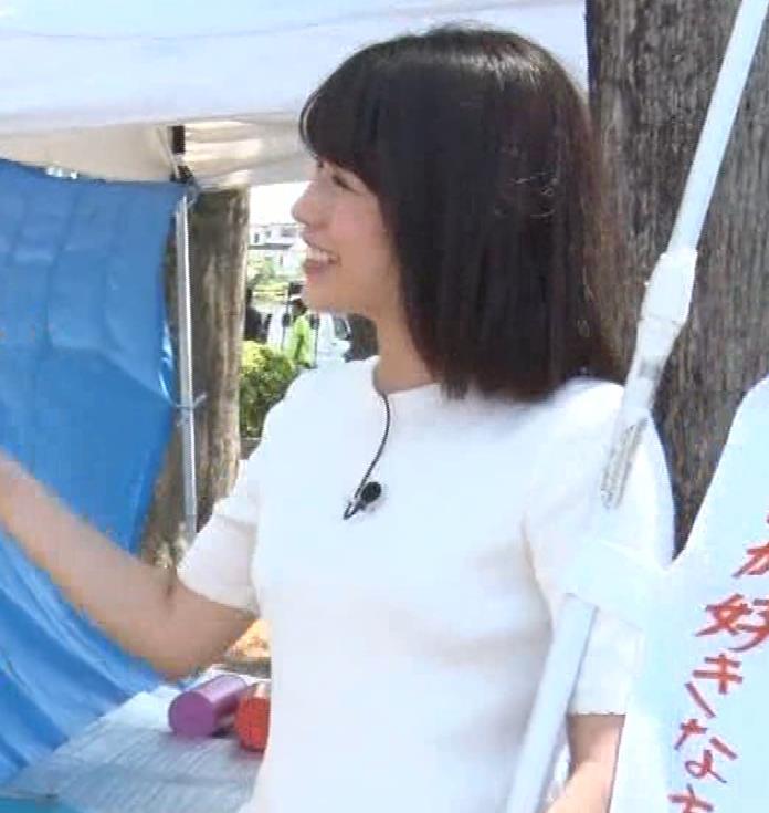 田中萌アナ プリケツ!ぴったりパンツのお尻!!キャプ・エロ画像7