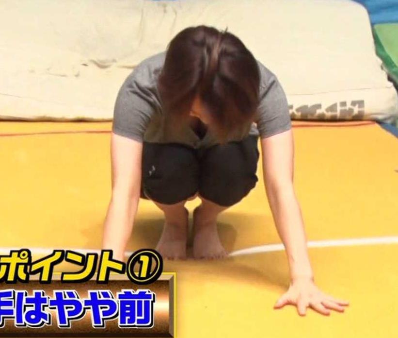 田中理恵 巨乳の谷間チラとかM字開脚とかエロ過ぎ!キャプ・エロ画像8