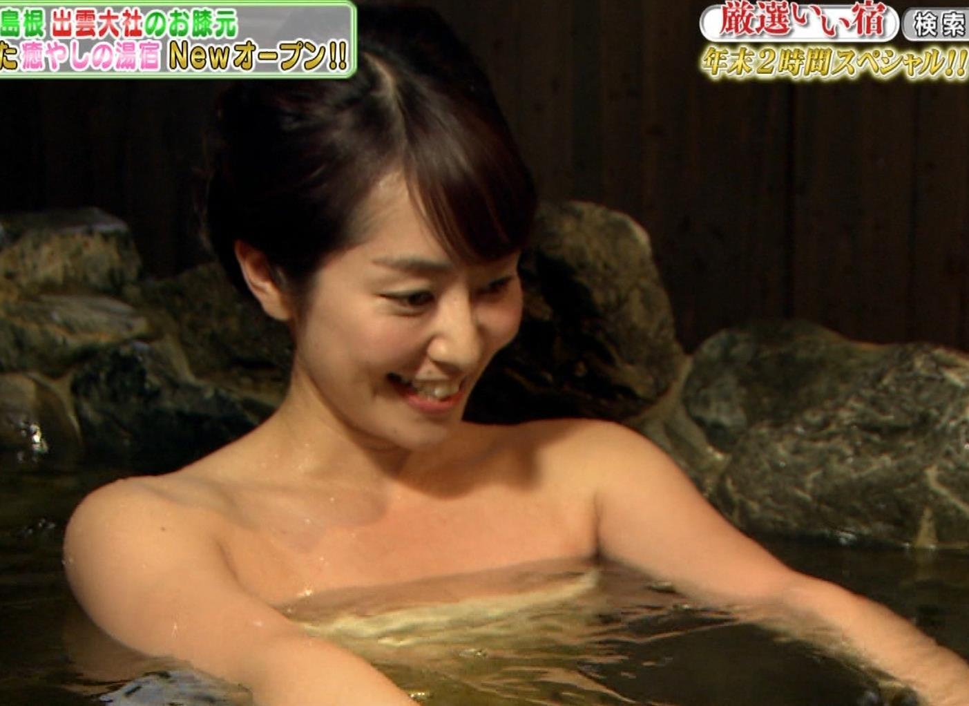 谷桃子 温泉番組での入浴シーンキャプ・エロ画像4