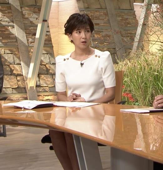 徳永有美アナ 机の下の脚とかキャプ・エロ画像4