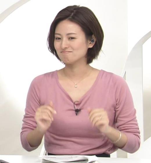 徳島えりかアナ ニット乳キャプ画像(エロ・アイコラ画像)