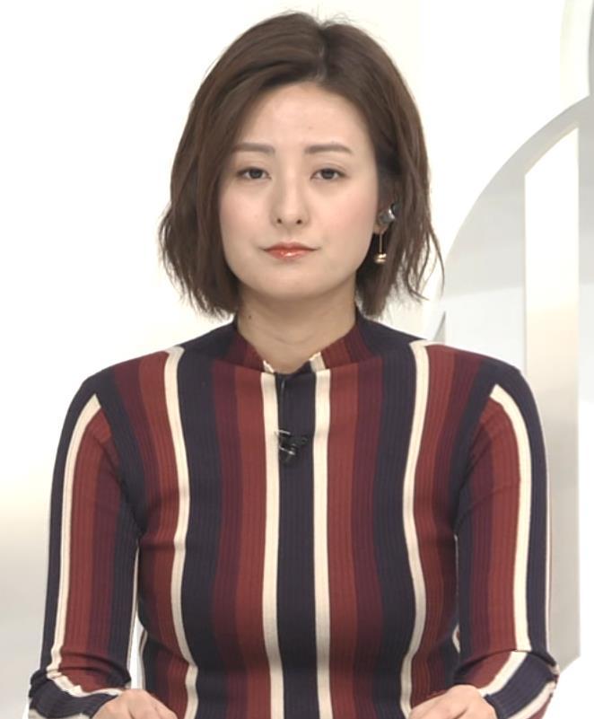 徳島えりかアナ 胸がエロい縦縞キャプ・エロ画像