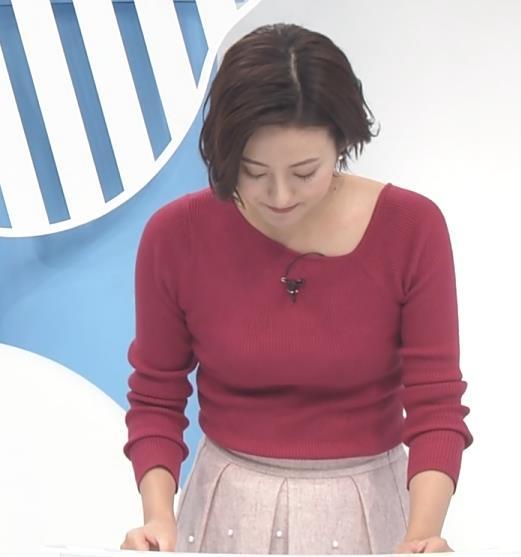 徳島えりかアナ 変な首元のニットキャプ・エロ画像2