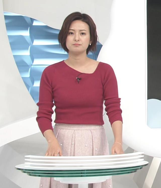 徳島えりかアナ 変な首元のニットキャプ・エロ画像4