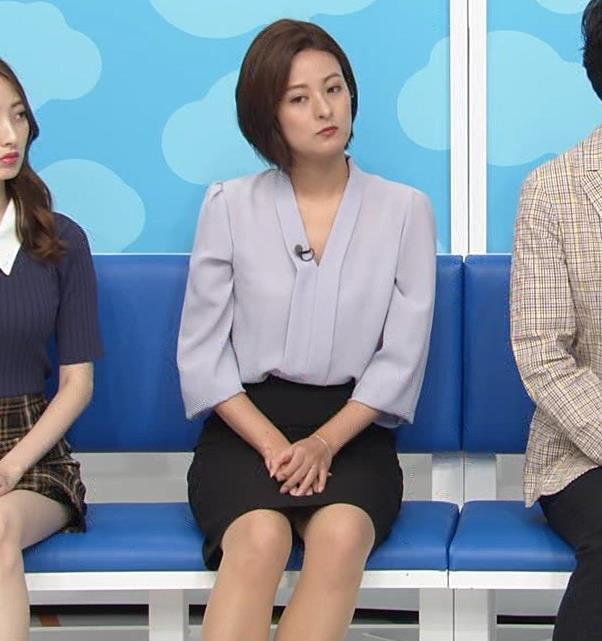 徳島えりかアナ 不用意にミニスカートで脚を開くキャプ・エロ画像3