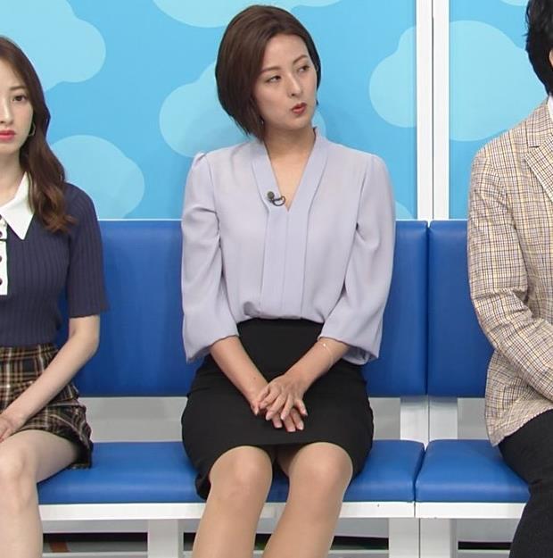 徳島えりかアナ 不用意にミニスカートで脚を開くキャプ・エロ画像5