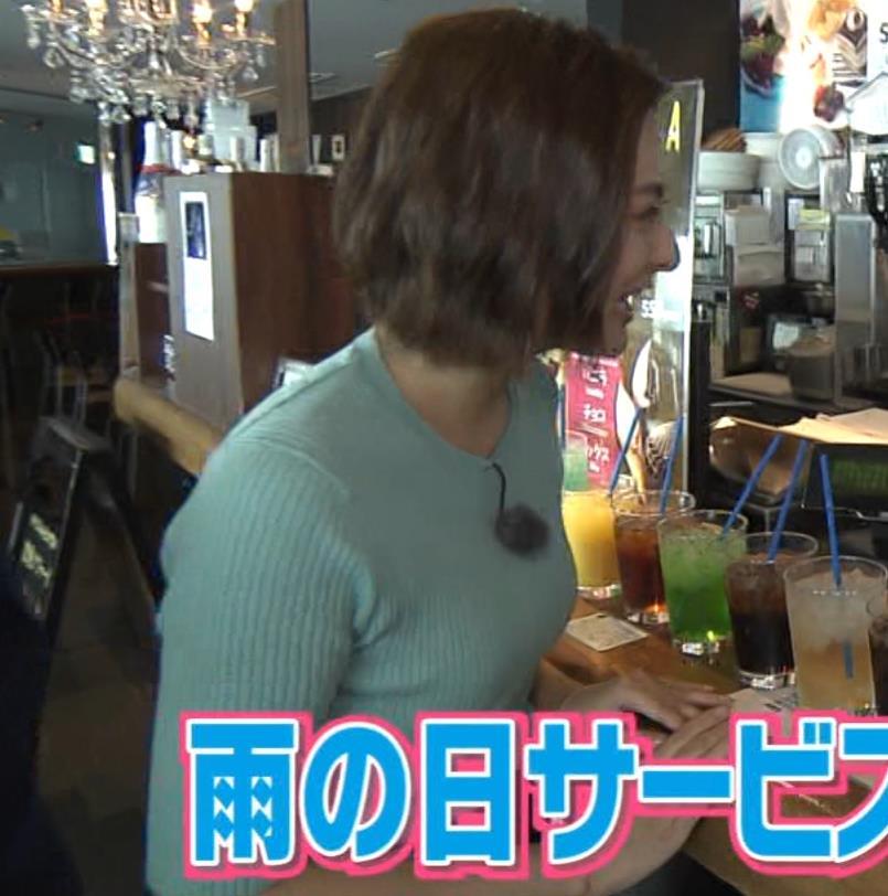 徳島えりかアナ ニット横乳で大きさがクッキリキャプ・エロ画像5