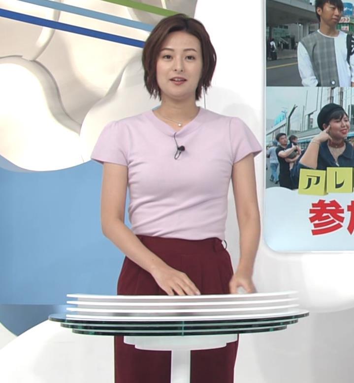 徳島えりかアナ タイトな服のおっぱいキャプ・エロ画像