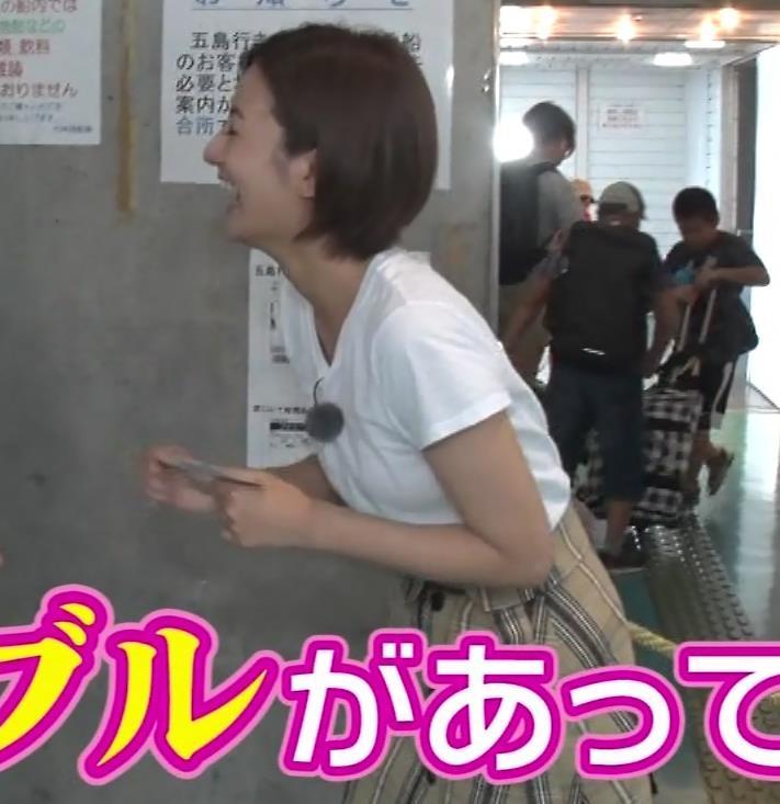 徳島えりかアナ 白いTシャツでエロいおっぱいキャプ・エロ画像2