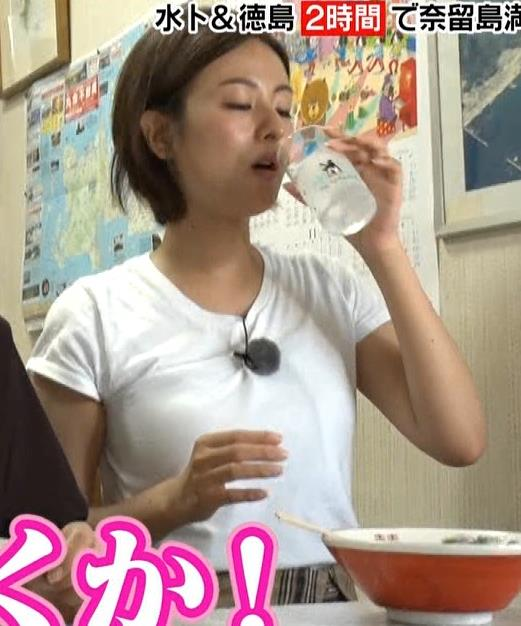 徳島えりかアナ 白いTシャツでエロいおっぱいキャプ・エロ画像8