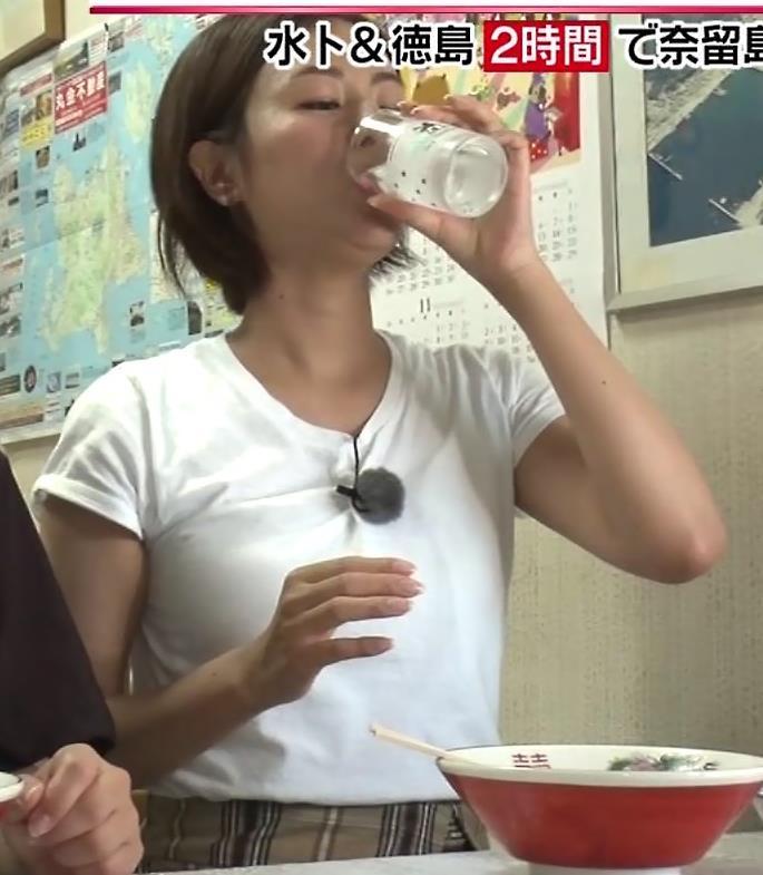 徳島えりかアナ 白いTシャツでエロいおっぱいキャプ・エロ画像9
