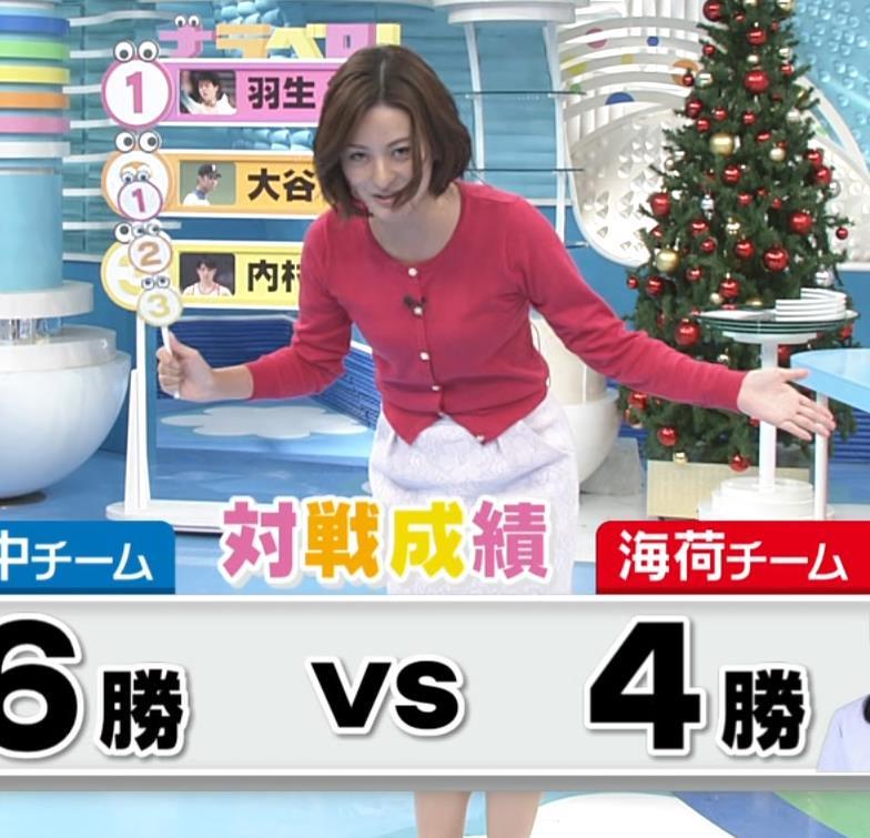 徳島えりかアナ ニットおっぱい。ZIPって変なポーズが多い。キャプ・エロ画像6