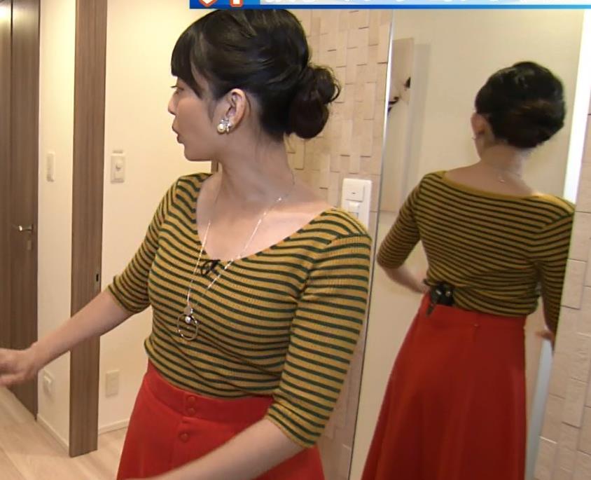 戸室穂美アナ 胸元が開いたニットおっぱいキャプ・エロ画像4