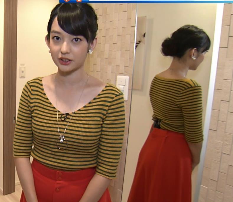 戸室穂美アナ 胸元が開いたニットおっぱいキャプ・エロ画像5