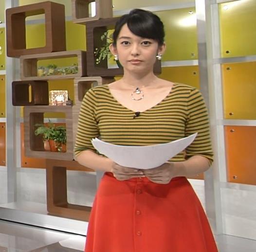 戸室穂美アナ 胸元が開いたニットおっぱいキャプ・エロ画像6