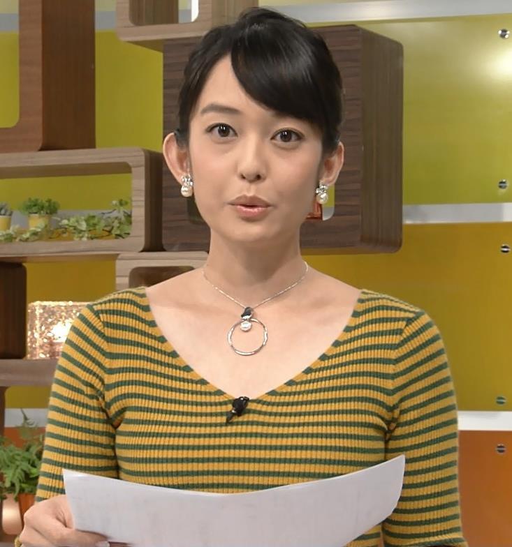 戸室穂美アナ 胸元が開いたニットおっぱいキャプ・エロ画像7