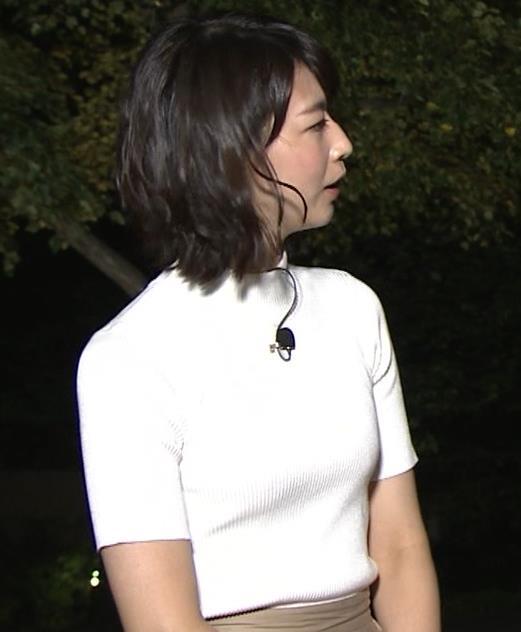 虎谷温子アナ 関西の美人アナ、ニット乳がエロ過ぎキャプ・エロ画像2