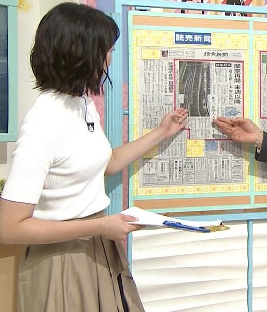 虎谷温子アナ 関西の美人アナ、ニット乳がエロ過ぎキャプ・エロ画像5