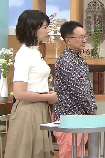虎谷温子アナ 関西の美人アナ、ニット乳がエロ過ぎキャプ・エロ画像8
