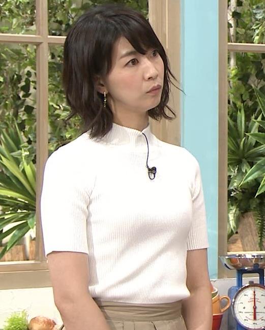 虎谷温子アナ 関西の美人アナ、ニット乳がエロ過ぎキャプ・エロ画像9