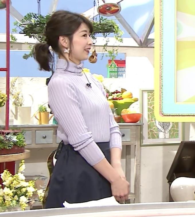 虎谷温子アナ にっとおっぱいキャプ・エロ画像2