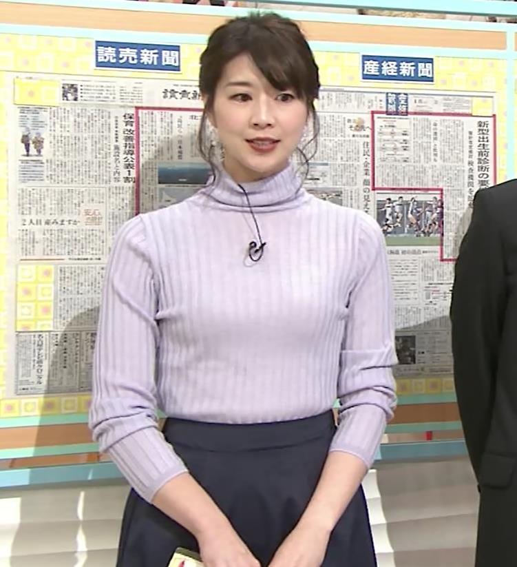 虎谷温子アナ にっとおっぱいキャプ・エロ画像4