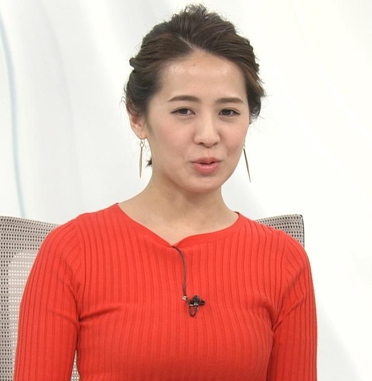 椿原慶子アナ カラダにぴったりしたニットでおっぱいクッキリ!キャプ・エロ画像4